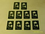 Snowman stencils for etching on to glass         present gift hobby craft glassware Christmas